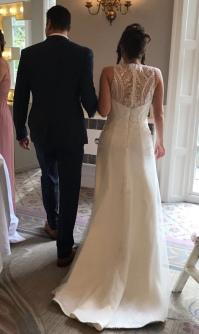 Sarah wedding dress back